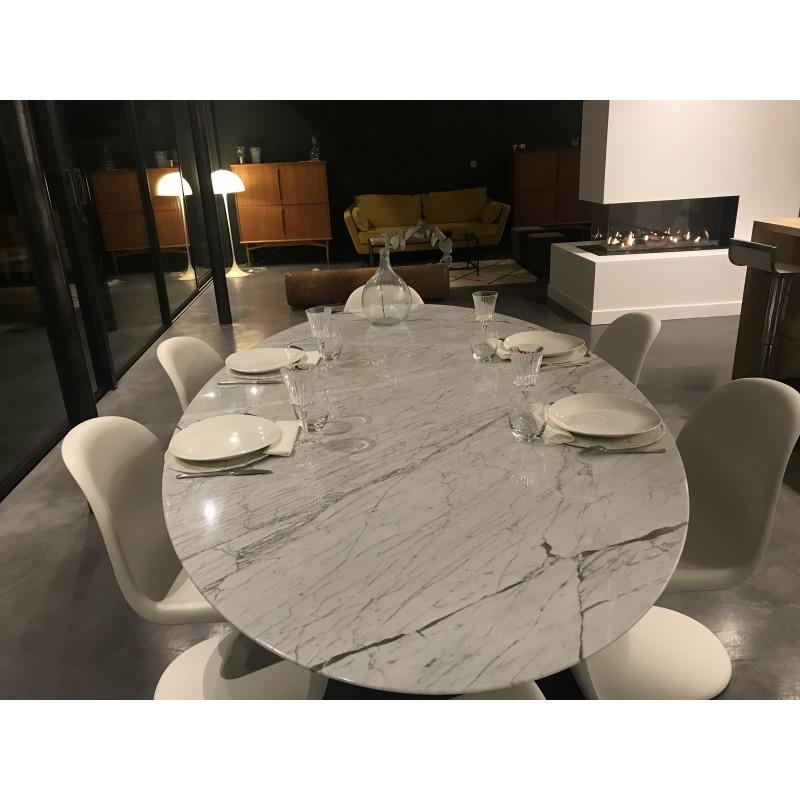 90 cm tavolo tulip marmo arabescato rotondo for Tavolo marmo design