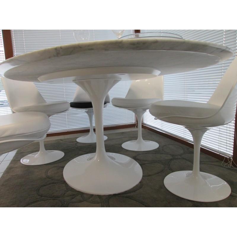 100 cm tavolo tulip marmo arabescato rotondo for Tavolo marmo design