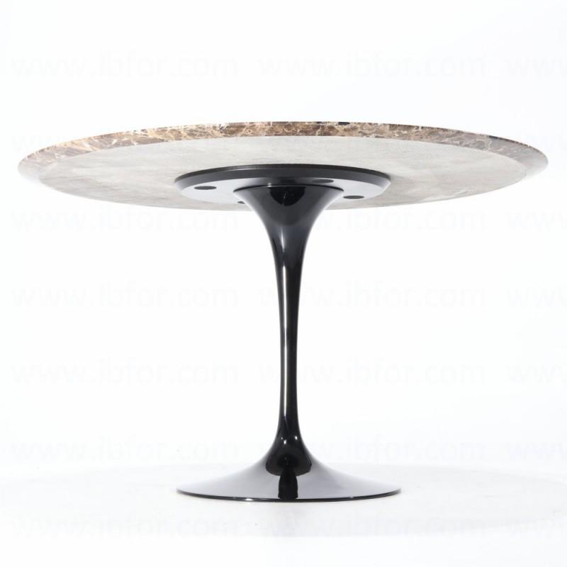 120 cm tavolo tulip marmo emperador dark rotondo for Tavolo marmo design