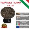 120 cm Tavolo Tulip Marbre Emperador ronde