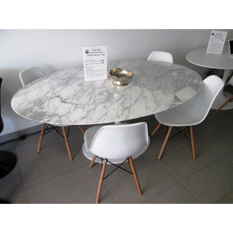 160 x 85 cm tavolo tulip marmo arabescato vagli ovale - Tavolo tulip ovale marmo ...