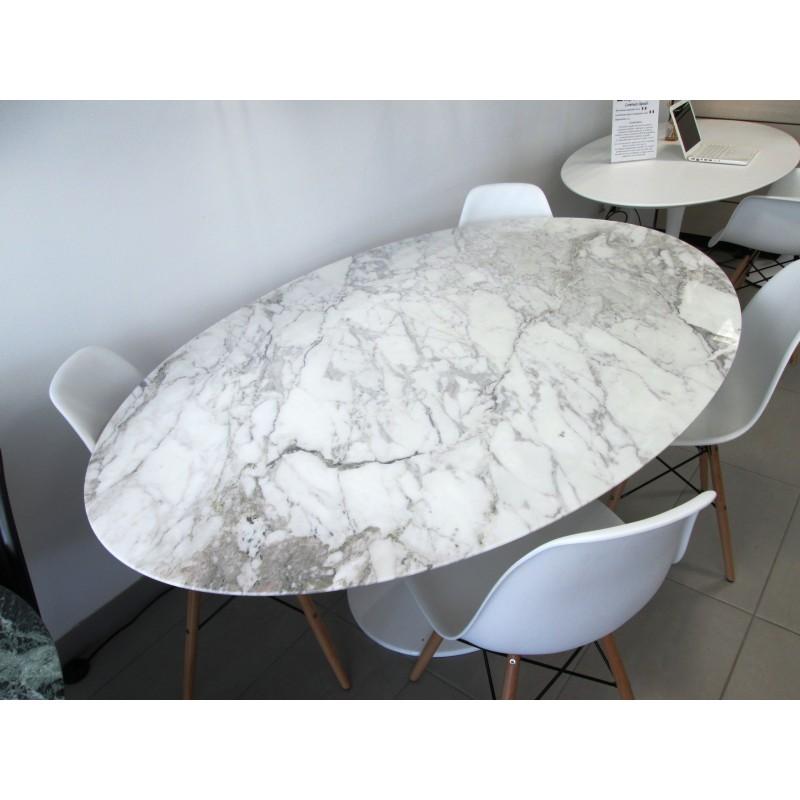 160 x 85 cm tavolo tulip marmo arabescato vagli ovale for Tavolo marmo design