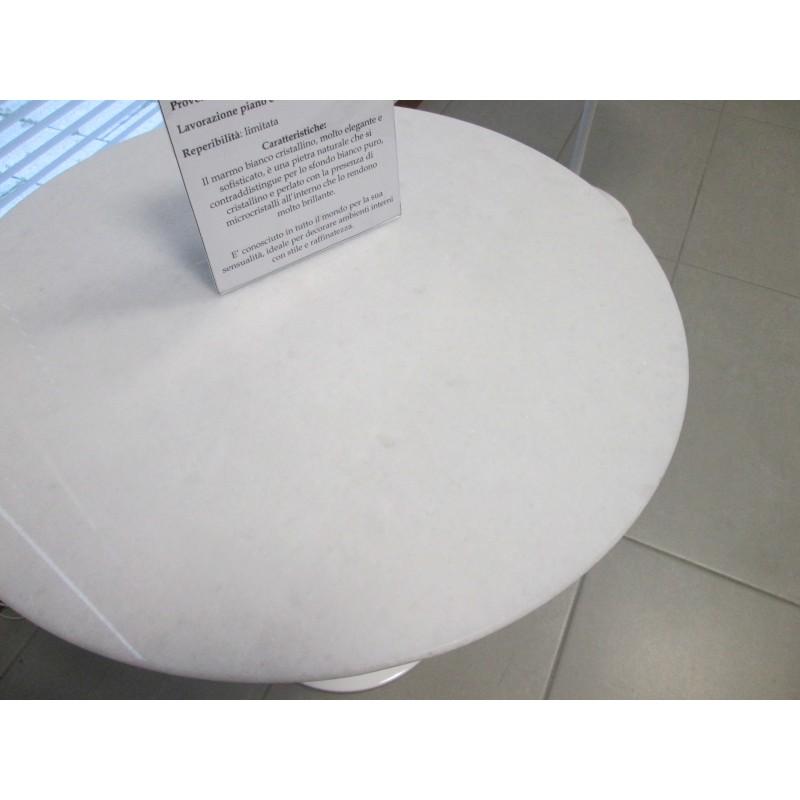 140 x 80 cm tavolo tulip marmo cristallino ovale - Tavolo tulip ovale marmo ...
