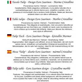 CM 107 Tavolo tulip rotondo Marmo Carrara