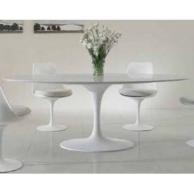 235x121 Tavolo Tulip Saarinen Ovale marmo Carrara