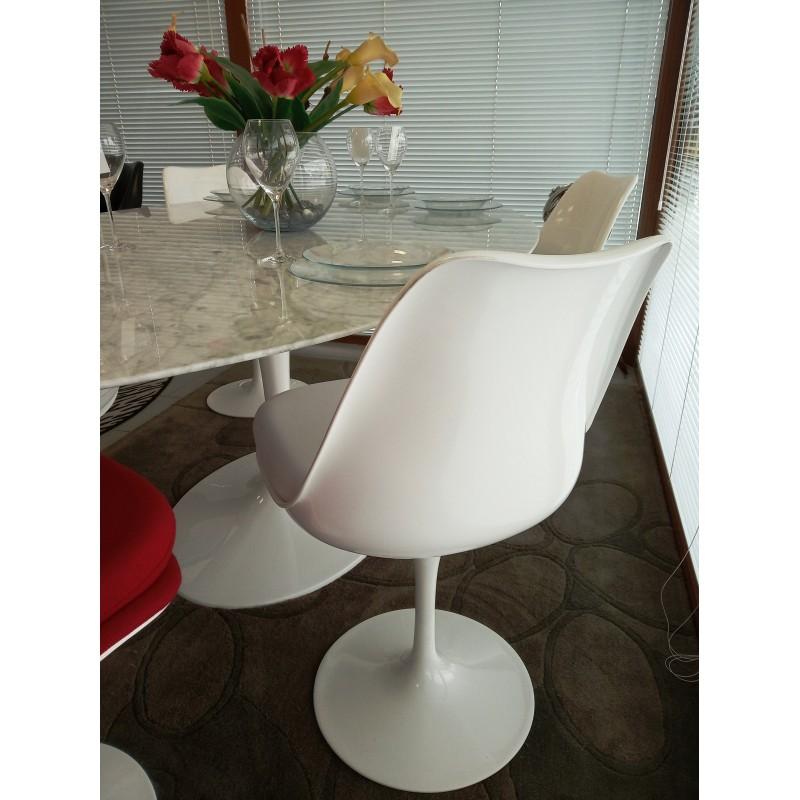 244 x 137 cm tavolo tulip marmo carrara ovale - Tavolo tulip ovale marmo ...