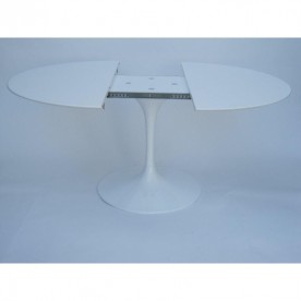 120 cm Table Tulip extensible Laminé Liquid ronde