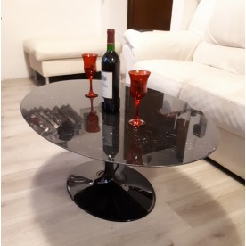 160x85 cm Table basse Tulip ovale