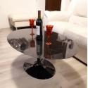 180 x 90 cm Table basse Tulip Ovale