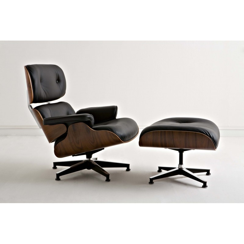 Poltrona Charles Eames Prezzo.Poltrona Lounge Chair Charles Eames In Pelle Made In Italy
