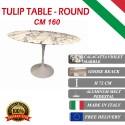 160 cm round Tulip table - Purple Calacatta marble