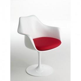 Petit fauteuil Tulip Coussin en Tissu
