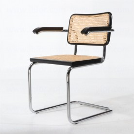 Cesca B32 chair with armrests - Marcel Breuer