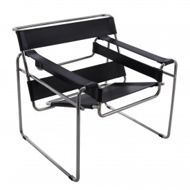 Leather armchair Wassily Marcel Breuer
