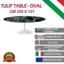 235 x 121 cm Tavolo Tulip Marmo Verde Alpi ovale