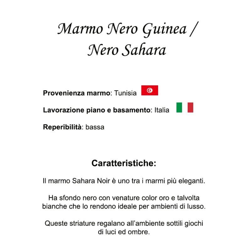 169 X 111 Cm Tavolo Tulip Marmo Nero Guinea Ovale