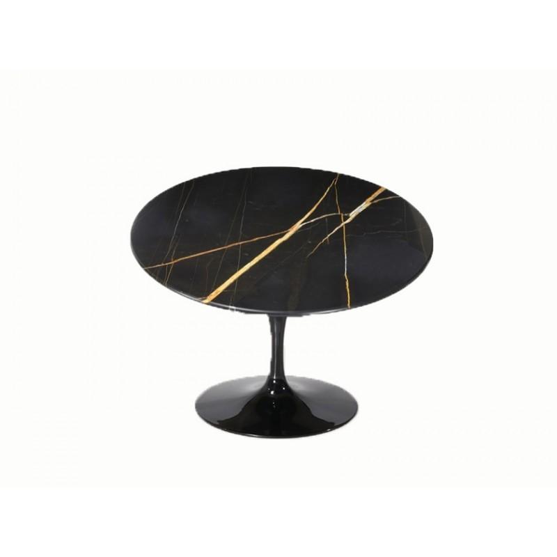 100 cm table tulip marbre noire guin e ronde Table ronde 100 cm