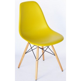 Sedia DSW Charles Eames Gialla