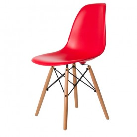 Chaise DSW Charles Eames Rouge