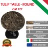 137 cm Tavolo Tulip Marmo Emperador rotondo