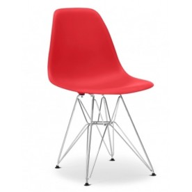 Chaise DSR Charles Eames Rouge