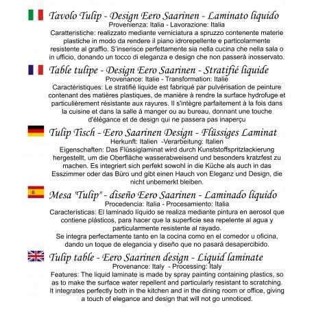 Tavolo Tulip Saarinen Allungabile.Tavolo Tulip 107 Allungabile