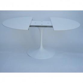 179 x 111 cm oval extending Tulip table  - Liquid laminate