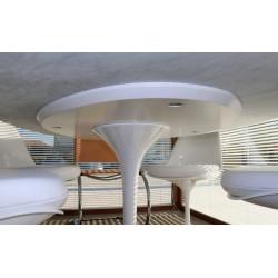 160x85 Tavolo Tulip Saarinen Ovale laminato liquido bianco