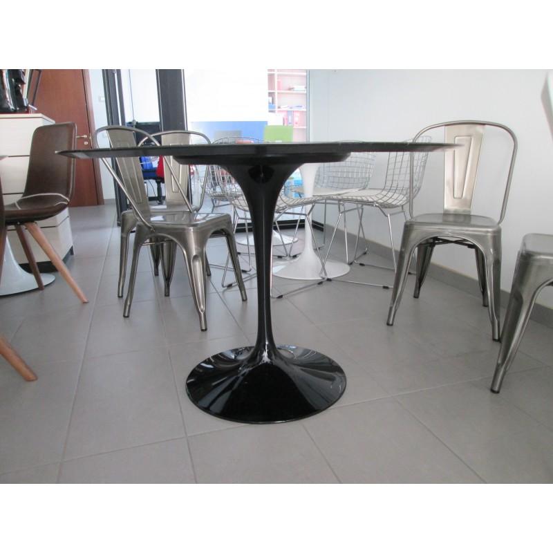140 x 80 cm tavolo tulip marmo marquinia ovale - Tavolo tulip ovale marmo ...
