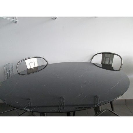 CM 120 Table tulip Eero Saarinen ronde Marbre Noir Marquinia | eBay