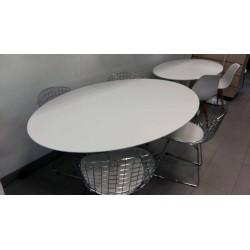 160x85 Tavolo Tulip Saarinen Ovale marmo Carrara