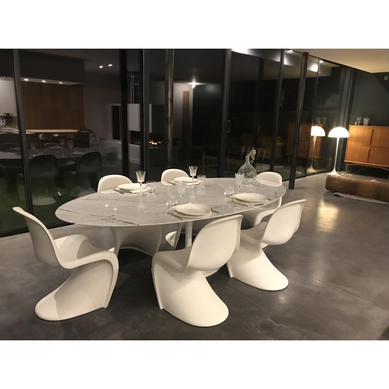 160 x 85 cm tavolo tulip marmo arabescato ovale for Tavolo marmo design