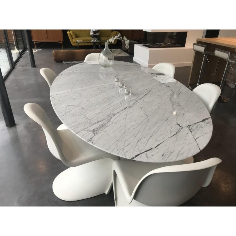 179 x 111 cm tavolo tulip marmo arabescato ovale - Tavolo tulip ovale marmo ...